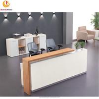 beauty salon wooden furniture office reception desk counter design
