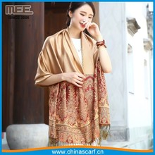 tan color lady shawls muslim head more than 8 colors choose red pashmina wrap