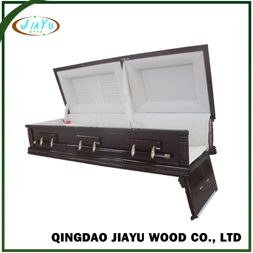 Assembled funeral equipment best genuine solid poplar rental casket