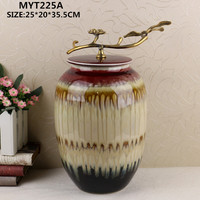 New products arts and crafts custom ceramic craft ceramic material flower vase for home decor
