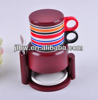 2 layerRainbow cups set/hot new product for /coffee cup/coffee mug/tea set/arabic six