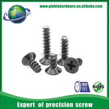 Flat head self threading screw plastic self tapping screw