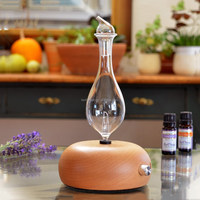 50ml Best Design Essential Aroma Wood Glass Oil Nebulizer Diffuser