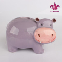 hippo shape large piggy bank for money the piggy bank