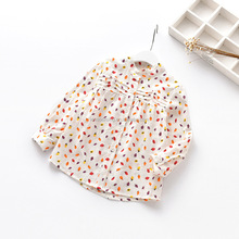 Wholesale full printed baby kids shirt blouse designs for kids
