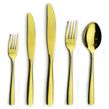 Wholesale restaurant gold cheap stainless steel flatware set