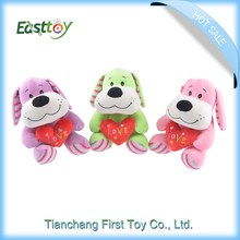 Competitive price birthday gift plush dog,animal toys
