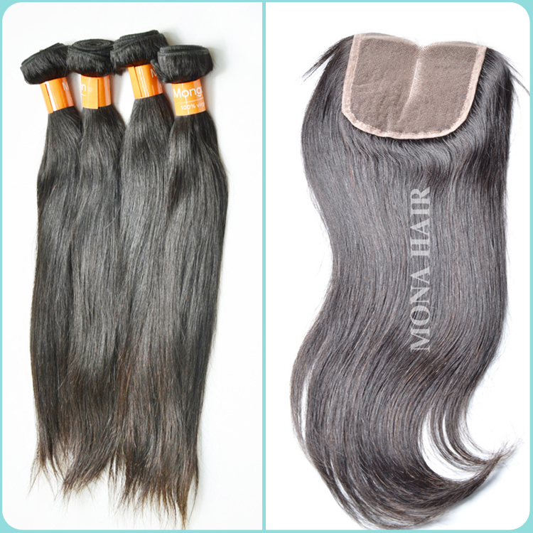 Overnight ship out can be dyed glossy and bouncy human hair pure Peruvian closure fast shipping virgin hair