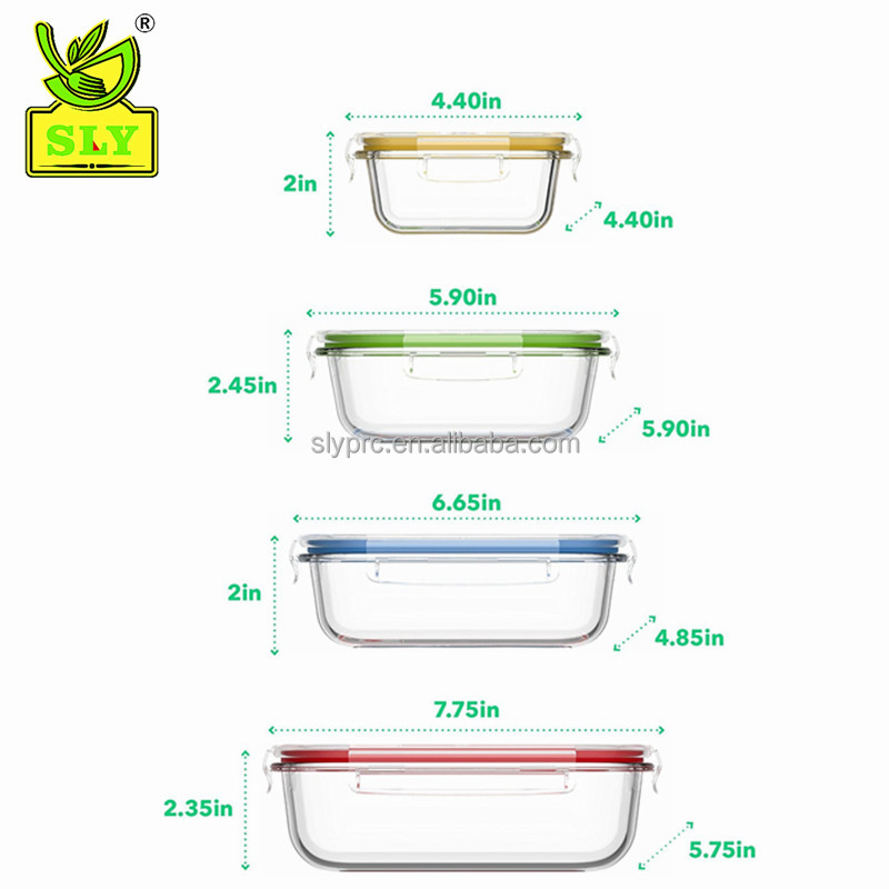 Freshness Preservation Food Container Feature and Storage Boxes & Bins Type glass food container