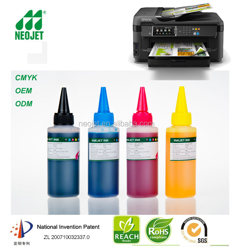 professional 100ml ciss refill cartridge anti uv dye ink for epson workforce 7611 7111 ink distributors wanted