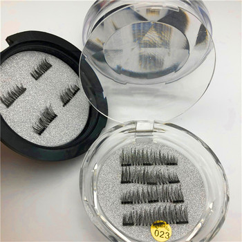 Soft Hair Reusable Fake eyelash 3d Mink Magnet Eyelashes with own logo package