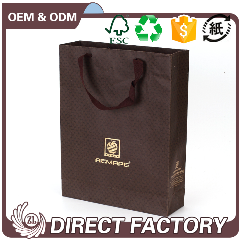 Custom brown paper bags with your own logo