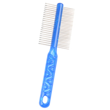 Professional Stainless Steel 2 In 1 Double Sided Tooth Pet Grooming Deshedding Combs For Dogs Cats