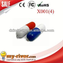 Popular Customized Design Promotional pill usb flash drive with oem logo