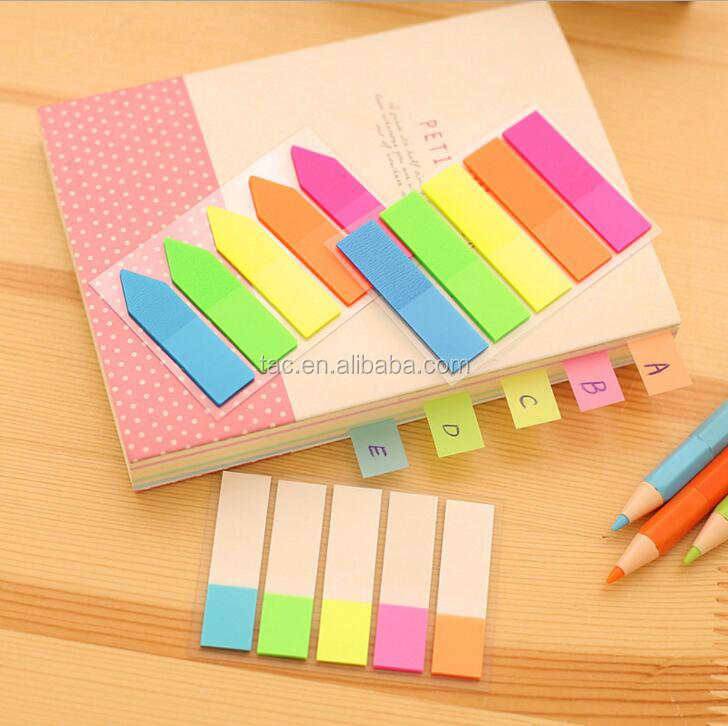 Plastic Arrow PET Page Marker Sticky Note plastic sticker note