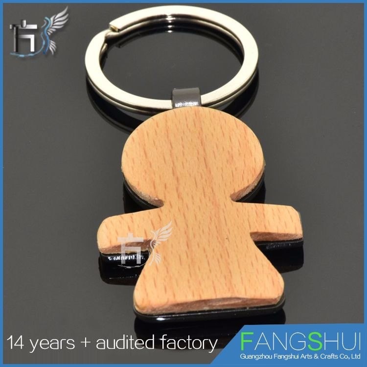 Factory direct supply wood fluffy keychain large supply