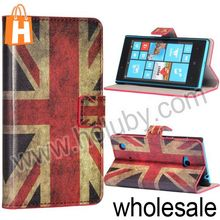 Union Jack Flag Pattern Magnetic Side Flip Wallet Stand PU Leather Case Cover Skin for Nokia Lumia 720 with Card Slots