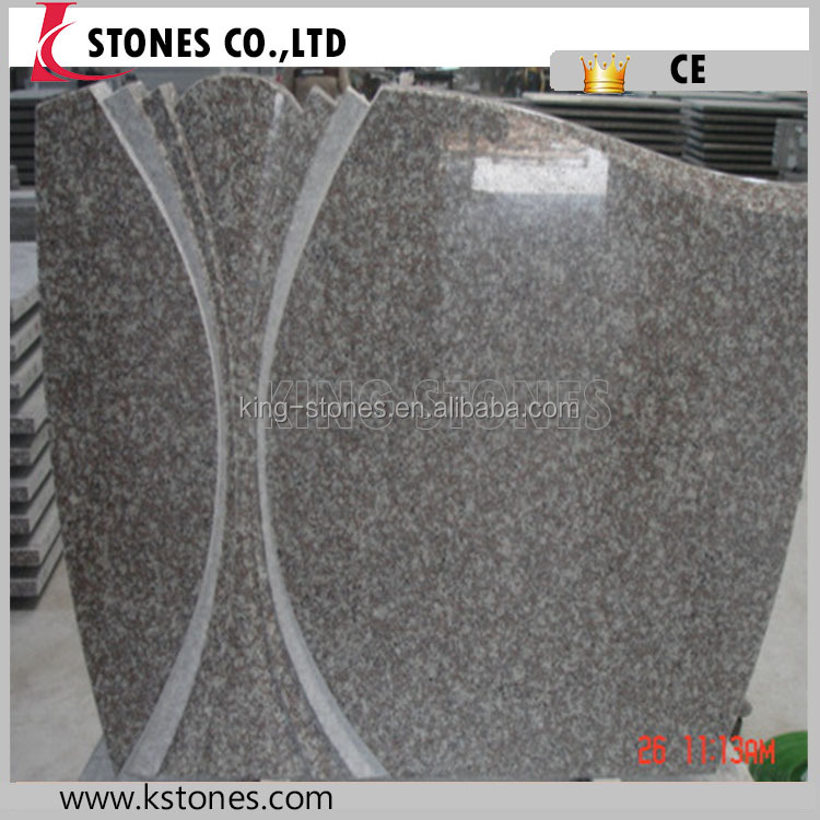 New Design China Granite Headstones Poland Style Cemetery Bench Monument