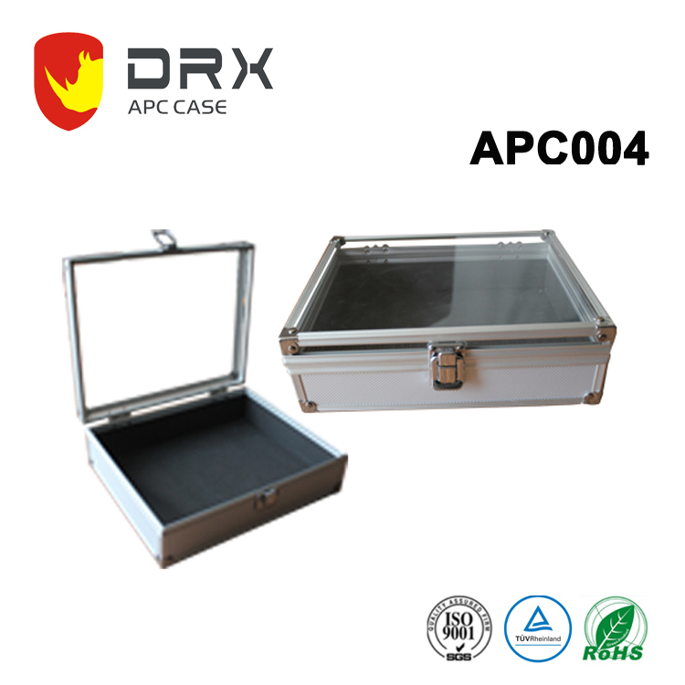 New Heavy Duty Aluminum Tool Equipment Case With Transparent Top Cover