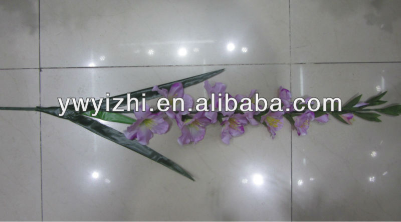 feel like real,artificial gladiolus flower stems for decoration