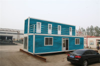 modern roof pre fabricated portable military container house