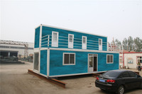 modern roof pre fabricated shipping portable military container house