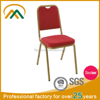 Hot sale Red Stackable banquet wedding chair KP-BC003