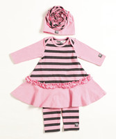 New Style Baby Beth Dress And Leggings Set For Girl Adorable Infant Girl Clothes Set Children Dress Suit G-NP-CS905-207