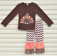 CONICE NINI wholesale thanksgiving day turkey boutique baby outfit