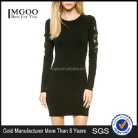 MGOO Cheap Price OEM/ODM Long Sleeve Bobycon Dress Shealth Mini Party Dress China Women clothing manufacturers 6036