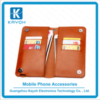 [kayoh]PU Leather Classic Design & Ultra-Strong Magnetic Closure Wallet Leather Phone Case for iPhone 6 Plus