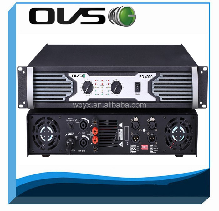 professional power amplifier PD4000 8 Ohm 2 Channel professional 800w/1200W amplifier price in india from Guangzhou