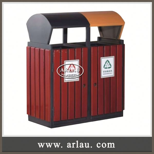 Arlau Malaysia Furniture,Single-Layer Waste Bin,Wood Craft Trash Can