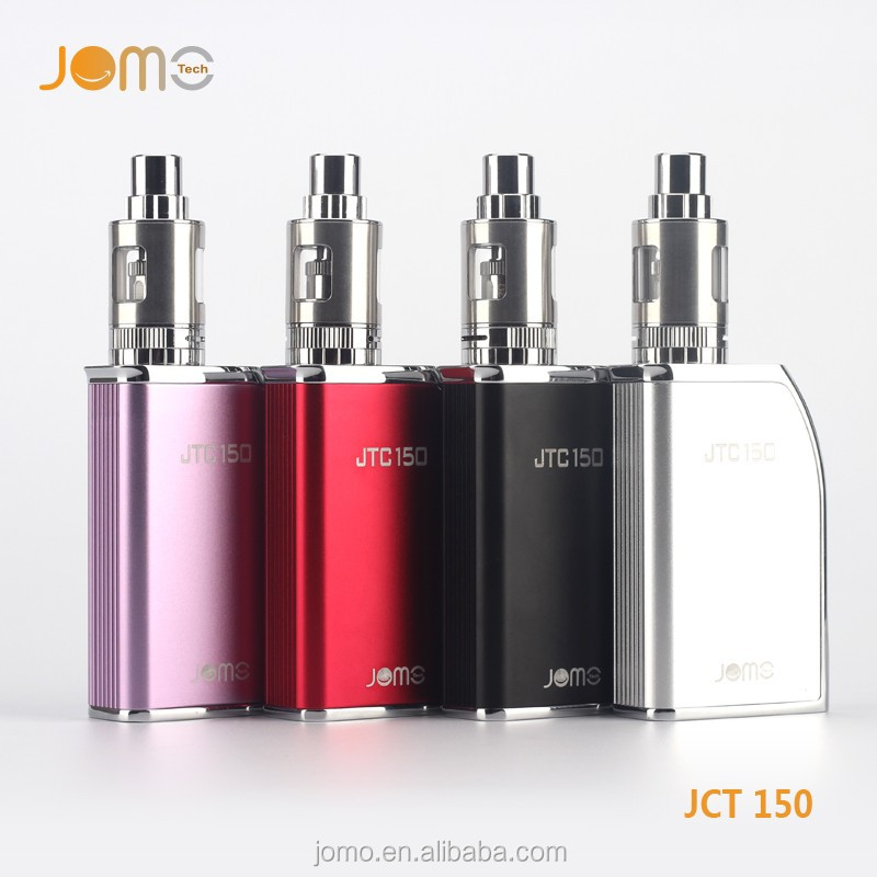Factory Price Strong Power Jomo e-cigarette JTC 150 watt Box Mod with 18650 Battery