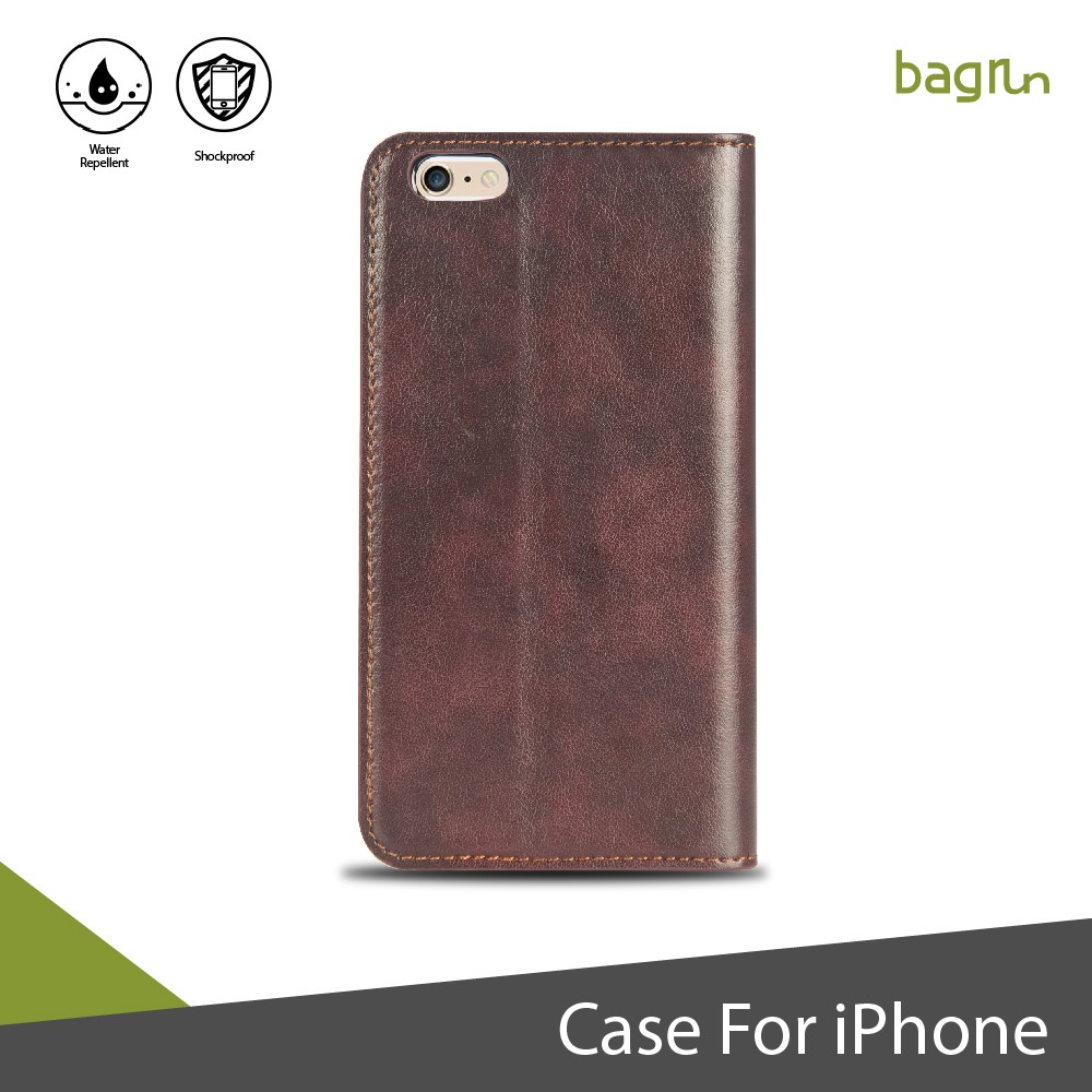 Best Brown Leather Wallet Flip Phone Case for iPhone
