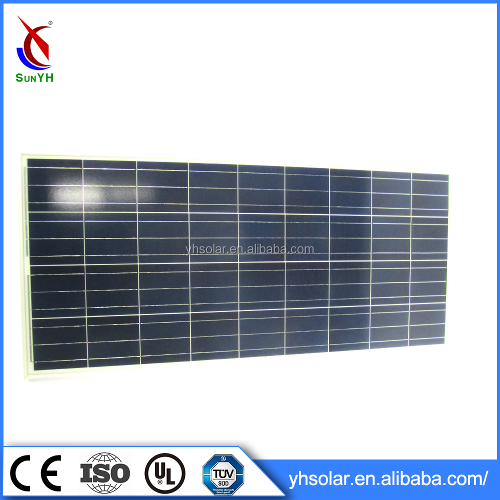 High efficiency solar panel cell 130 watt poly solar panel for solar power station