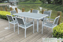 dining outdoor furniture aluminum frame polywood table chair