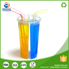 Split bubble tea cups/milk share cup