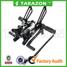 Tarazon brand CNC aluminum alloy motorcycle alloy rear sets for Honda CBR 600 01-07
