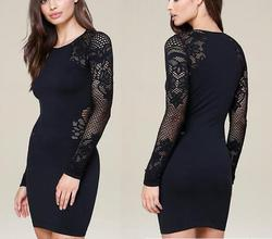 long sleeve lace styling formal wholesale office dress for pregnant women sexy skirt