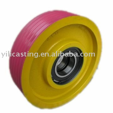 pulley wheel cast iron sand casting grey iron casting foundry