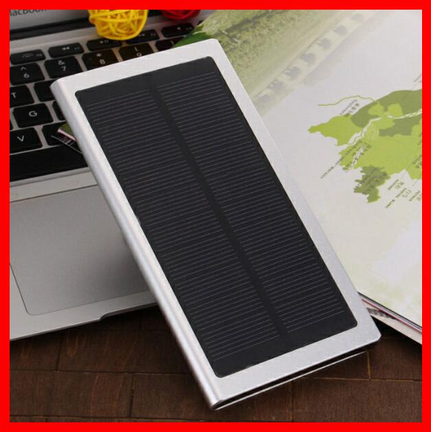 Best Selling Products Mobile Solar Charger Dual USB Solar Power Bank External Battery Charger with LED light