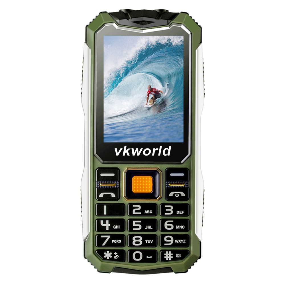 2017 Best Selling Senior Cell Phone Vkworld Stone V3S Quad Band Waterproof 2*Light Unlocked China Cheapest Bluetooth Phone