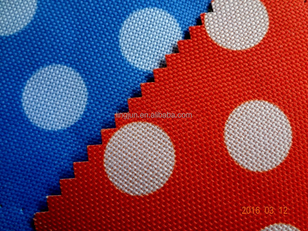 600D dot fabric, polyester fabric coated with PVC for shopping bag