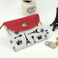 LANGUO British style cute girls coin purses with unique model: LGFL-2587