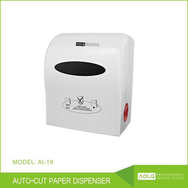 Large window kitchen roll paper towel dispenser with anti-theft keys