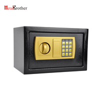 Mini Fireproof Safe Box/Security Metal Electronic Burglar Proof Hidden Wall Money Safe Portable Steel Deposit Mounted Safe Box