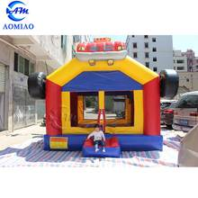 Newly fashion 3D truck inflatable bounce house bouncer rental