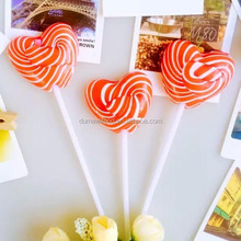 Sweety Handmade Red Stripe Heart Shape Lollipop Love Heart Candy