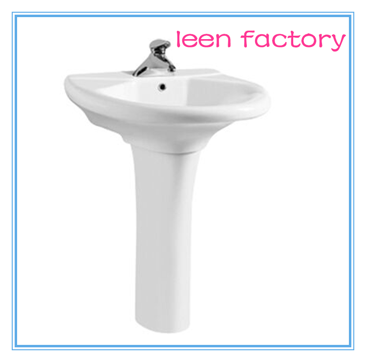 Pedestal Basin , Sanitary Ware Ceramic Wash Basin
